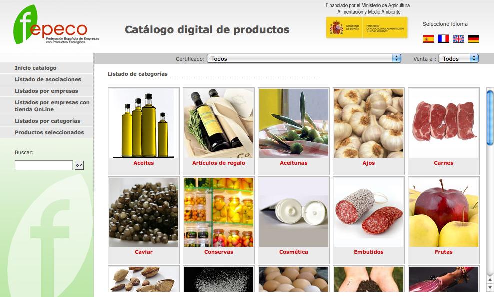 Catálogo de productos de FEPECO