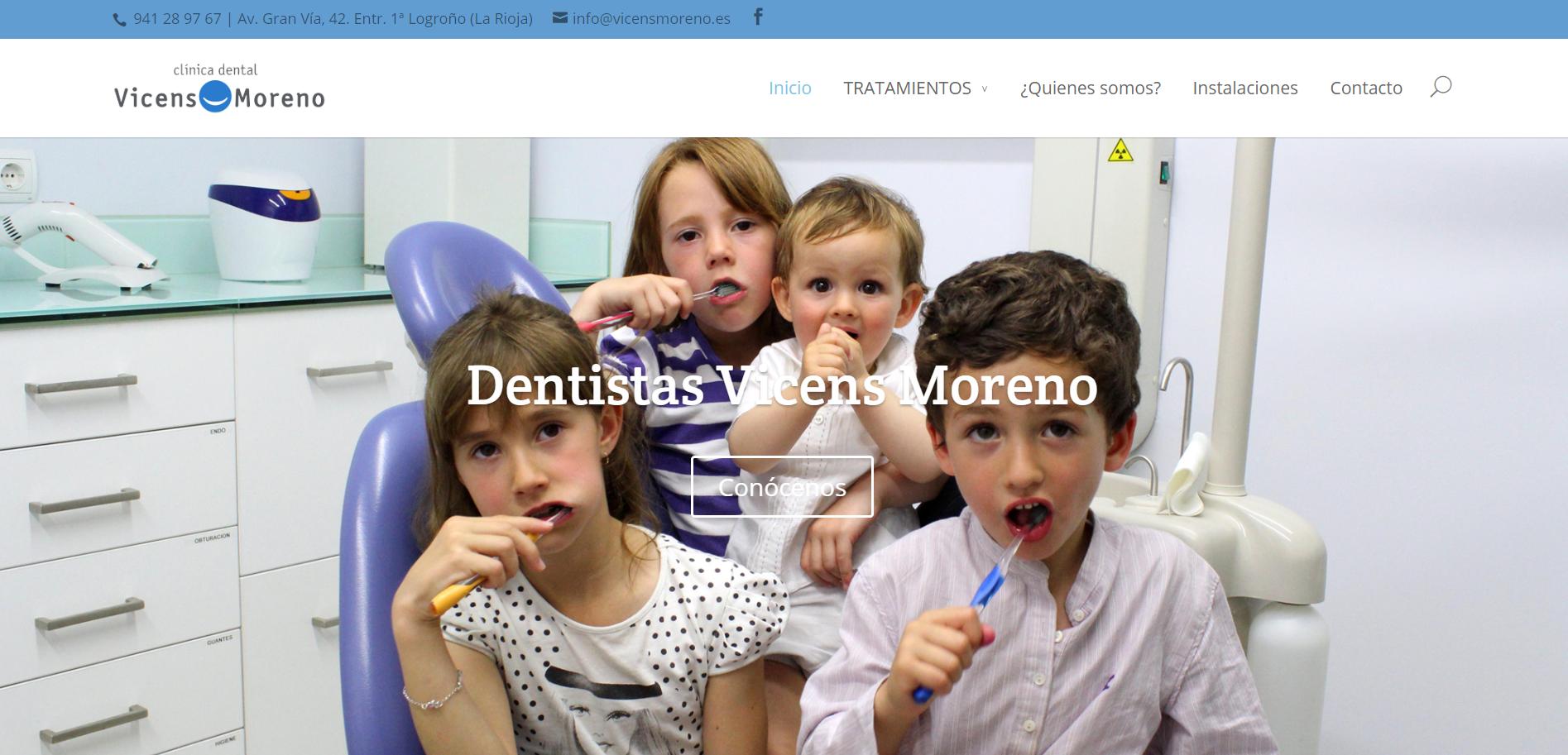 Diseño Web Vicens Moreno Dentistas