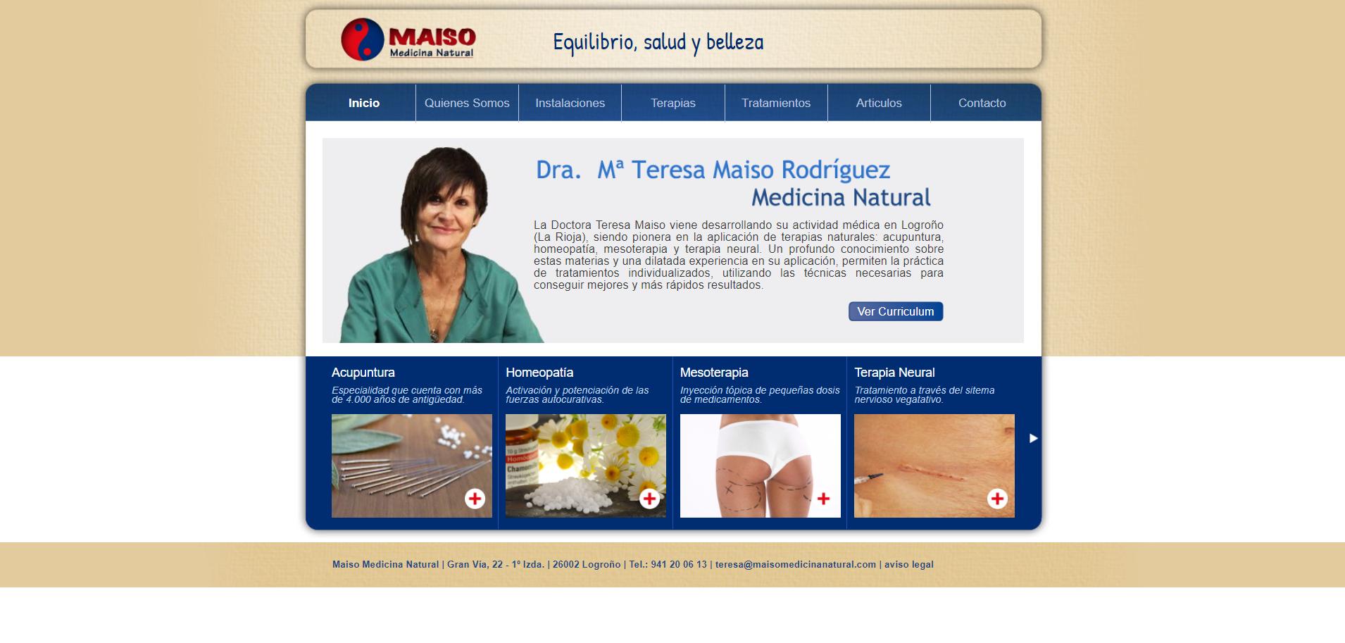 Diseño Maiso Medicina Natural