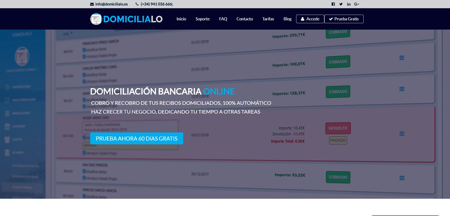 Diseño Web Domicílialo