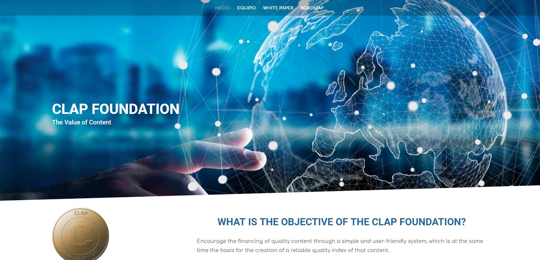 Diseño Web Clap Token