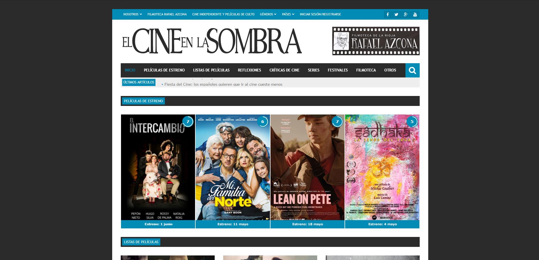 Diseño Web El Cine en la Sombra