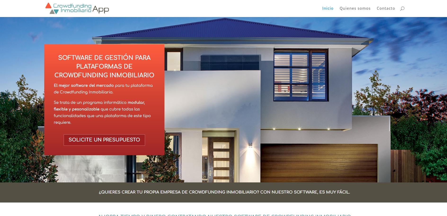 Diseño Web Crowdfunding Inmobiliario App